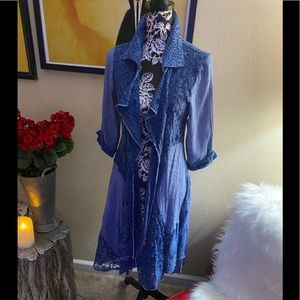 Feratelli Denim and Lace Duster